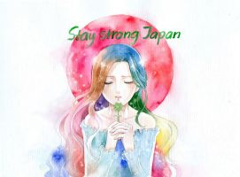 Stay strong, Japan by meodualeo