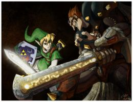 Link vs. Ganondorf... by Mensaman