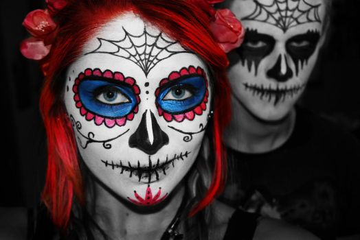 Sugar Skulls by PoppyHunter
