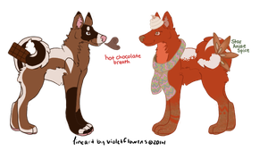 OPEN - Fall-Themed Adopts! by wesleydog