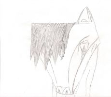 Emo Wolf -uncolored- by Volts48