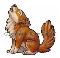 Little Brown Wolf - Sticker by KatieHofgard