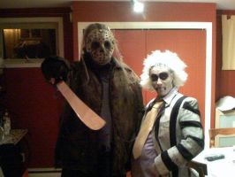 Beetlejuice and Jason costume by ibentmywookiee