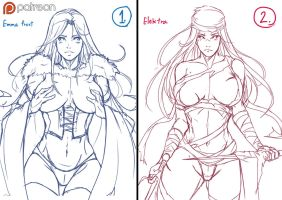 PT : Vote event : Emma frost vs Elektra by kachima