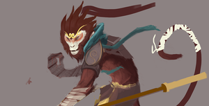 Monkey King WIP by funzee