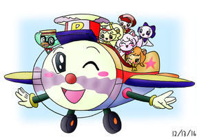 2016 12 13 Mini Six Pets' Plane Mascot named Pal by dannichangirl