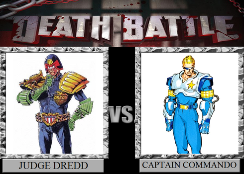 Judge Dredd vs Captain Commando by Fail-Seeker
