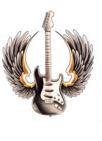 guitar with wings by WillemXSM