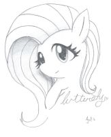 Fluttershy Sketch by AdamsSketches