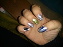 Doctor Who Nails 2 by KayleeRydder
