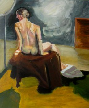 Figure sitting by KerrithJohnson