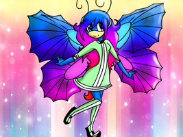 Mariposa the butterfly (requested) by SnowyAquarius