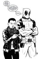 Negasonic Teenage Warhead and Deadpool by KR-Whalen