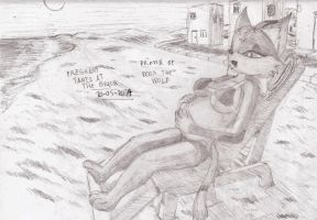 Pregnant Tania at the beach by Doom-the-wolf