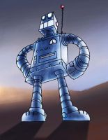 1950's robot by puffychin by richard-chin