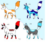 Fox adoptables by 11lexi23