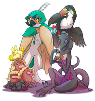 Pokemon Moon Team by KatieOsika