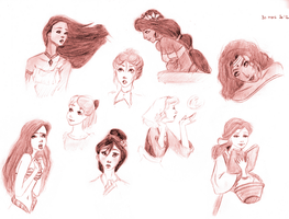 Disney girls by Ezelie