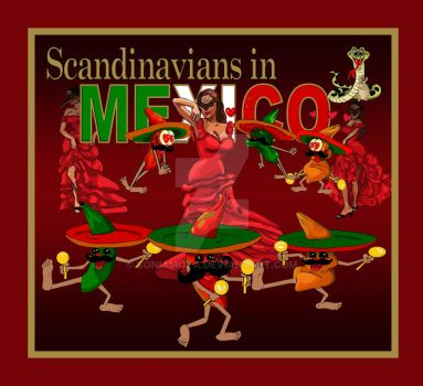 Scandinavians in Mexico song artwork Corvus Stone by SoniaMota