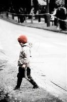 ...child on a street... by ag90