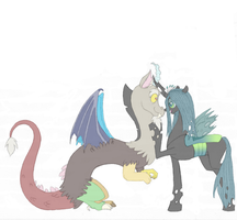 Discord and Chrysalis by hitokage195