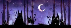 A Forest of Space Cats by ZestyDoesThings