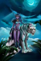 Dota:  Priestess of  the  moon , Mirana by prywinko