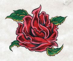 Rose Tattoo Design by NarcissusTattoos