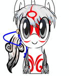 Amaterasu Pony by alice-rose27k
