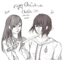 Merry X-mas chain!! by Schocko-chan