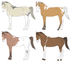 .::New Year's Adopts::. by EquineAdoptables