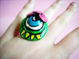 Happy Monster Ring by AirashiiZombie