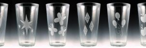 My Little Pony Cutie Mark Pint Glass set by Yukizeal