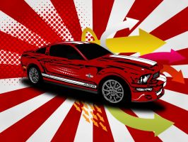 Vector Ford Shelby GT500KR by waitq