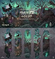 Alternative longboards / Haunted Woods by motsart