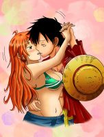 LuffyXNami - Magic Kiss- by xXxCheekyCandyxXx