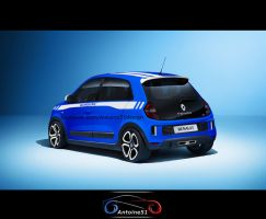 Renault Twingo 3 RS Gordini rear by Antoine51
