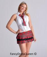 Cheeky School Girl Uniform by fancydressqueen