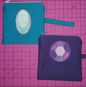 Steven Universe gems embroidered coin purses  by MechanicalApple