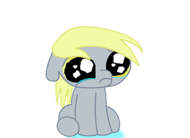 Crying Derpy by Keanno
