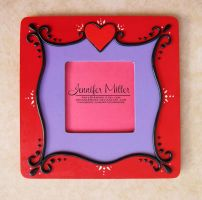 Red Heart Picture Frame by ArteDiAmore