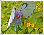 Butterfree - flower attraction by Toshikun
