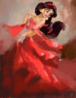 Jasmine in Red by Lazulina