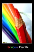 Rainbow Pencils by macheli