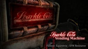 Sparkle Cola - Fallout Equestria [SFM Resource] by argodaemon