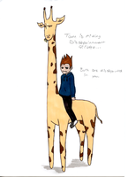 Dissapoint Giraffe and Tomska by stephie-anna