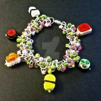 Sushi Chainmaille Charm Bracelet by Rosie-Periannath