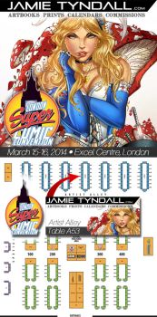 London Super Comic Con - Artist Alley Table A53 by jamietyndall