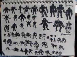 enemy  silh designs by xensoldier