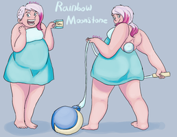 Gemsona - Rainbow Moonstone by Ziratoni